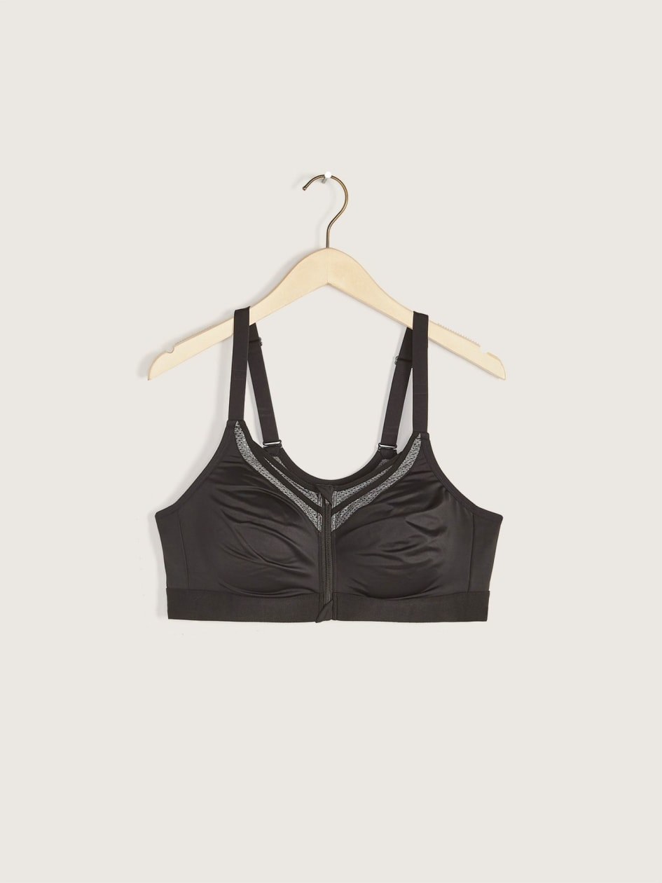 Sports Bra with Front Zip - ti Voglio