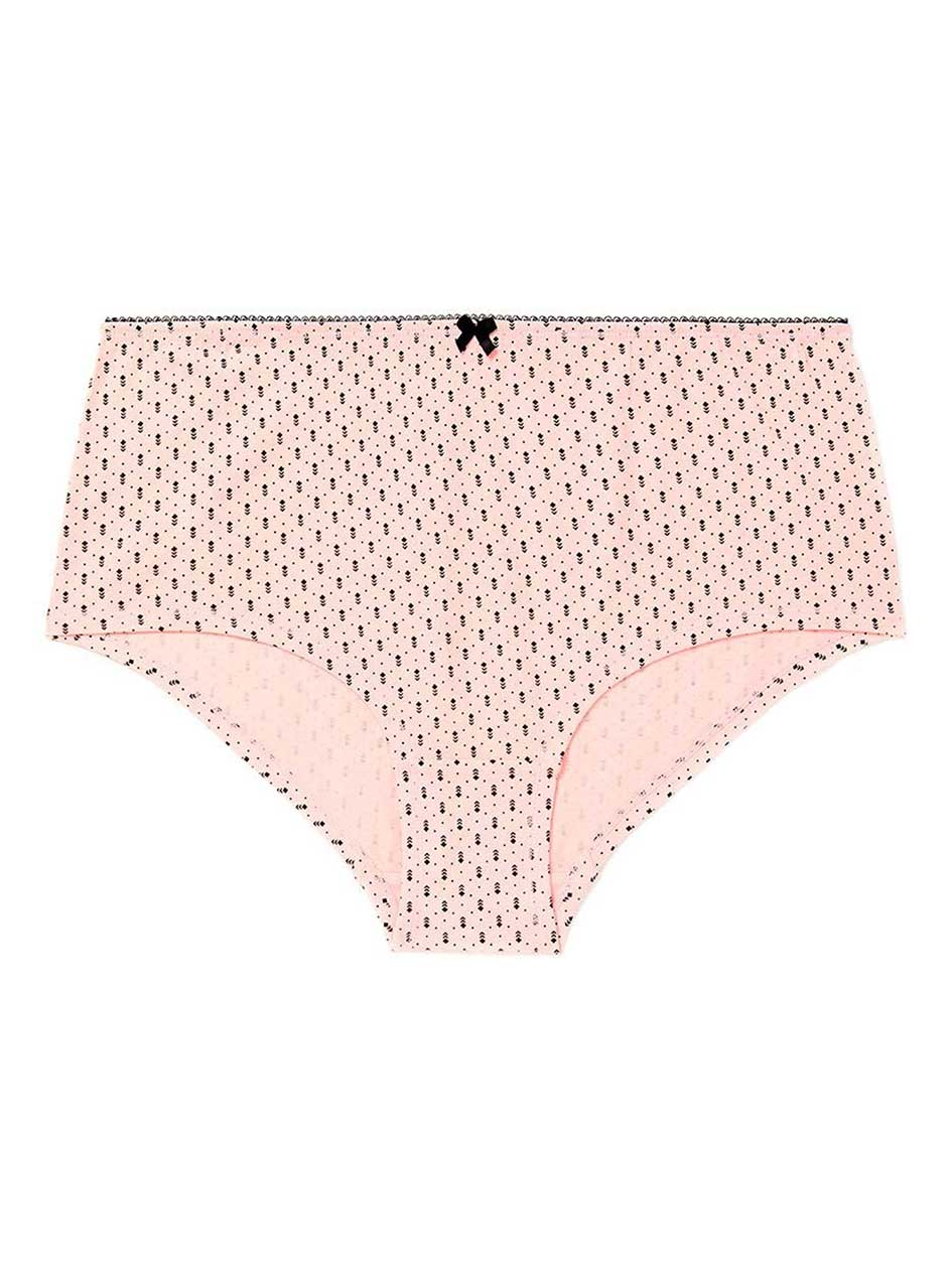 5c13806552e31 Printed Cotton Boyshort Panty - ti Voglio.Strawberry Cream.3X