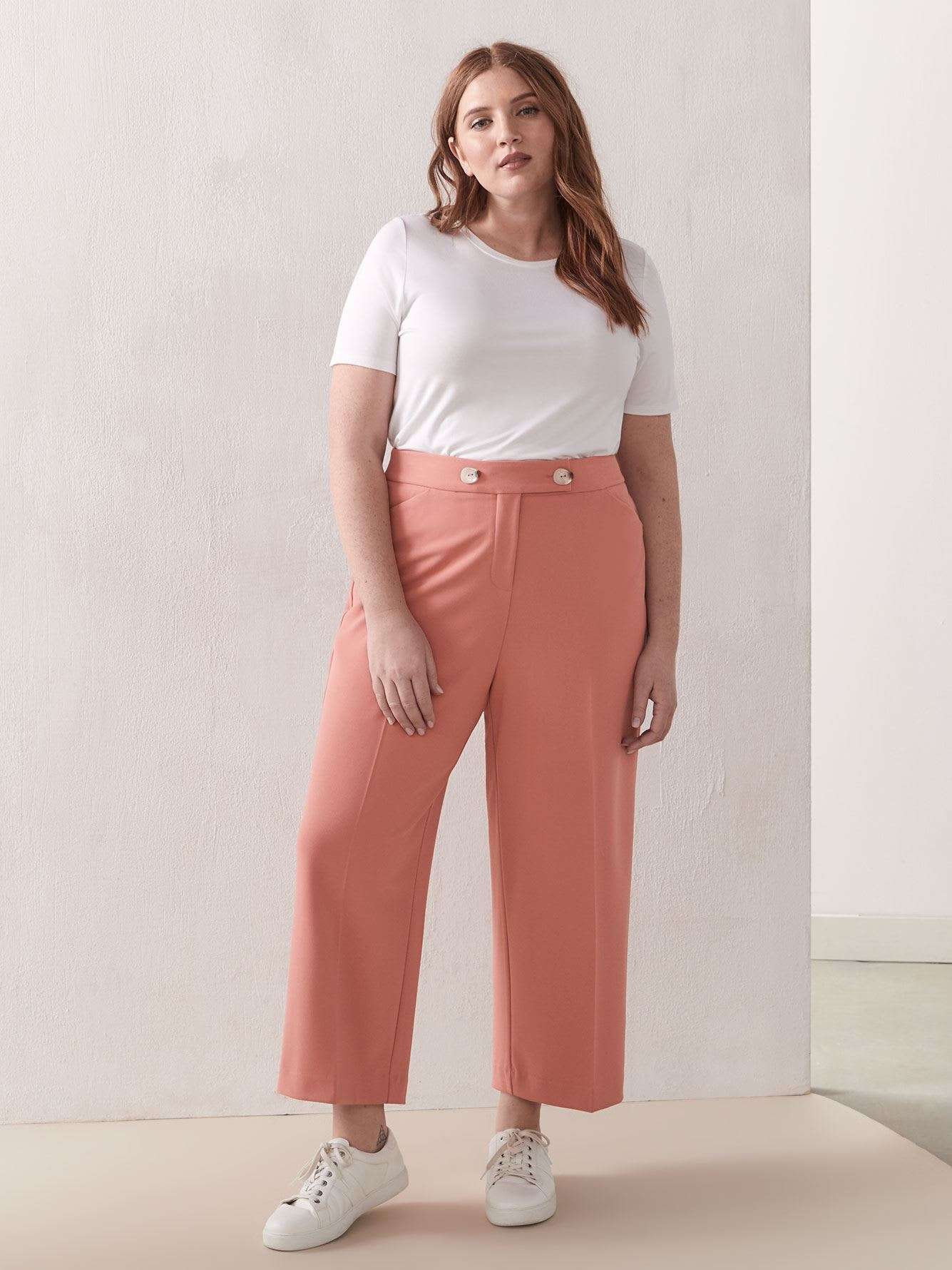Wide Leg Pull-On Pant - Addition Elle