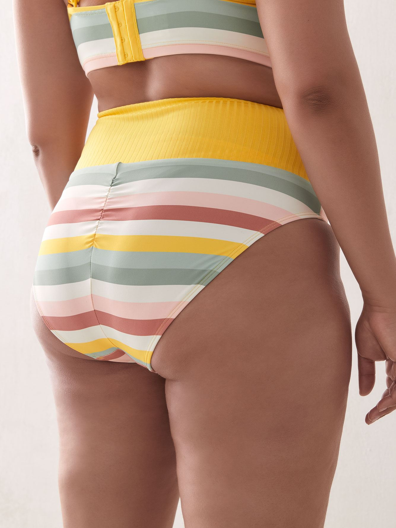 High Waist Printed Bikini Bottom - Addition Elle