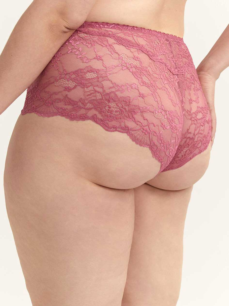 Boyshort Panty with Snakeskin Lace - ti Voglio