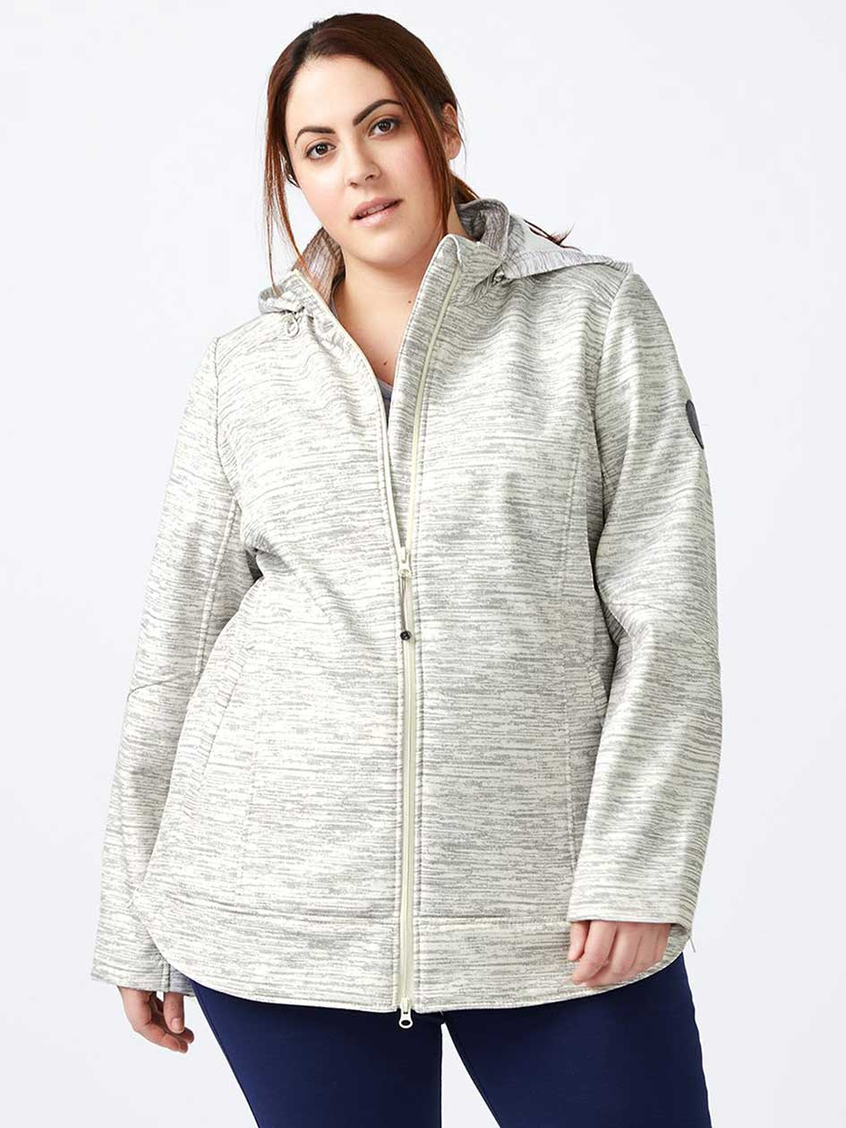 ActiveZone - Plus Size Hooded Soft Shell Jacket