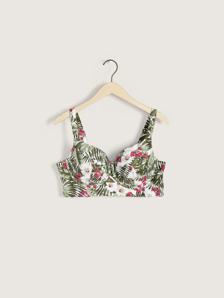 Printed Crop Tankini Top