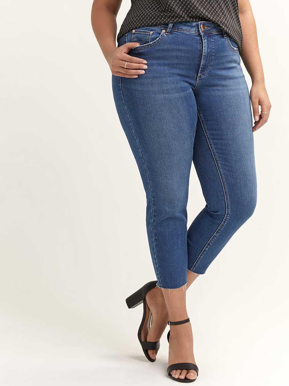 7a139b52350 Slim Ankle Jean with Raw Hem - L L