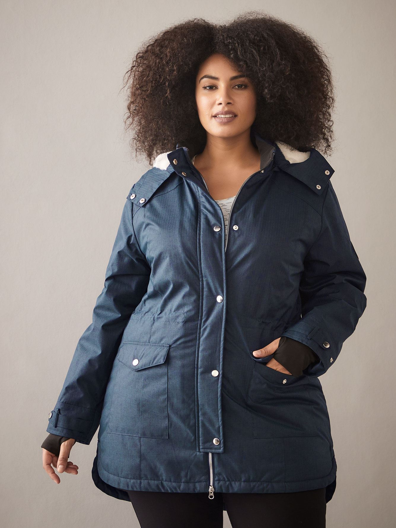 Ski Jacket with Faux-Fur Hood - ActiveZone