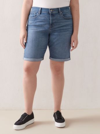 Stretchy Shaping Mid-Rise Jean Bermuda Short - Levi's Premium