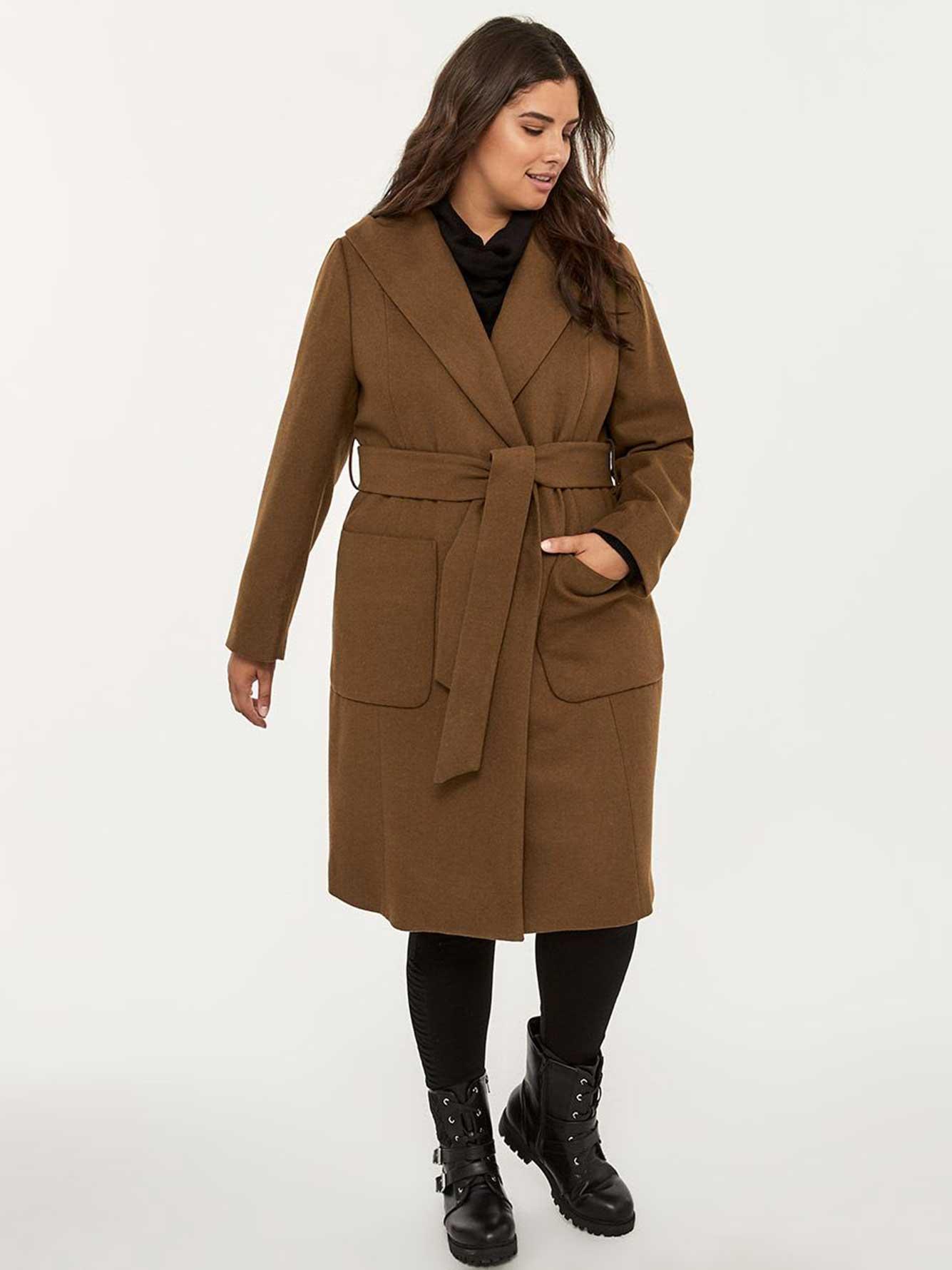 Manteau avec capuchon et ceinture - In Every Story   Penningtons c9c4574eb6a