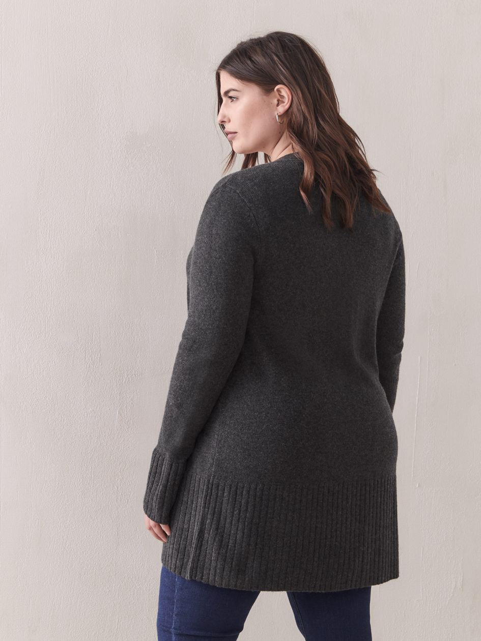 Cashmere-Blend Open Cardigan - Addition Elle