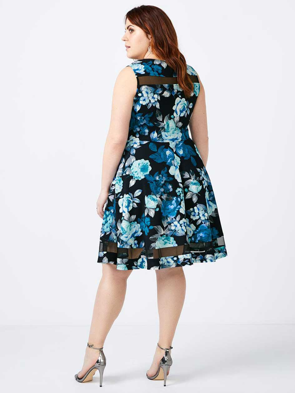 Fit and Flare Floral Dress - In Every Story