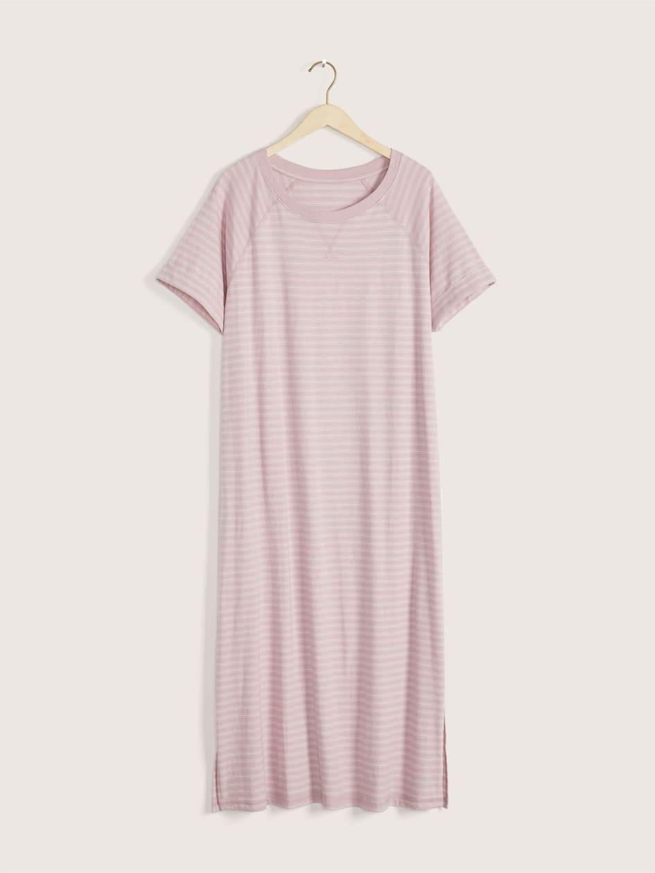 Striped Short Sleeve Sleepshirt - Addition Elle