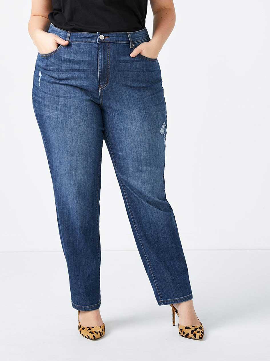 Petite Curvy Fit Straight Leg Jean - d/c JEANS