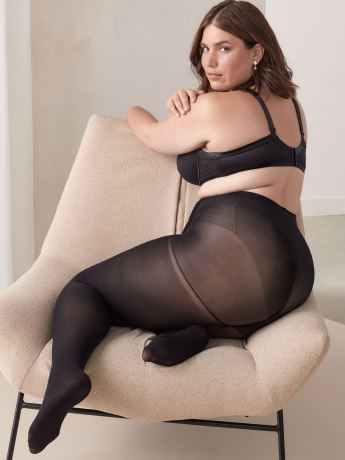 Basic 100D Control Top Tights - Addition Elle