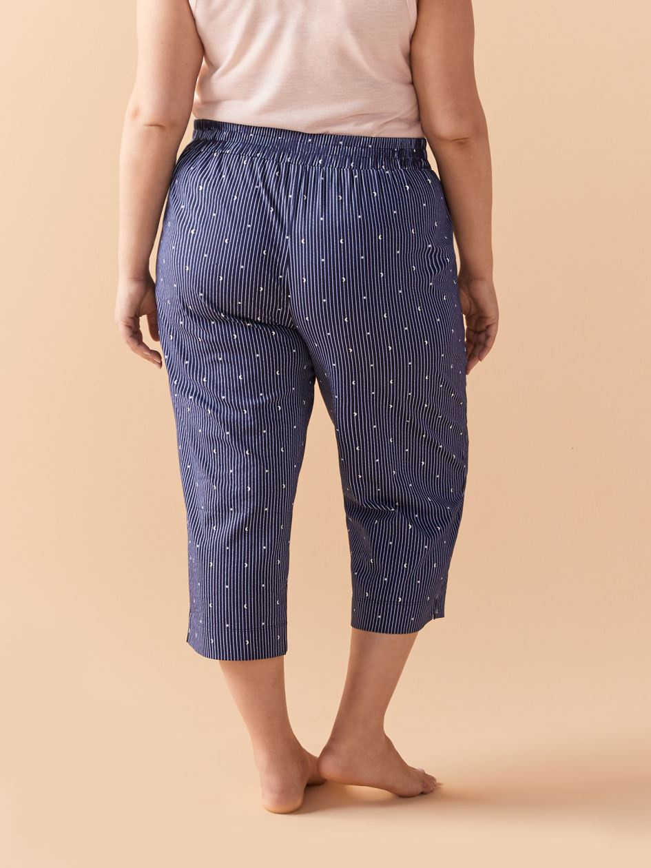 Striped PJ Capri Pant - Addition Elle