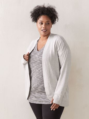 French Terry Open Cardigan - ActiveZone