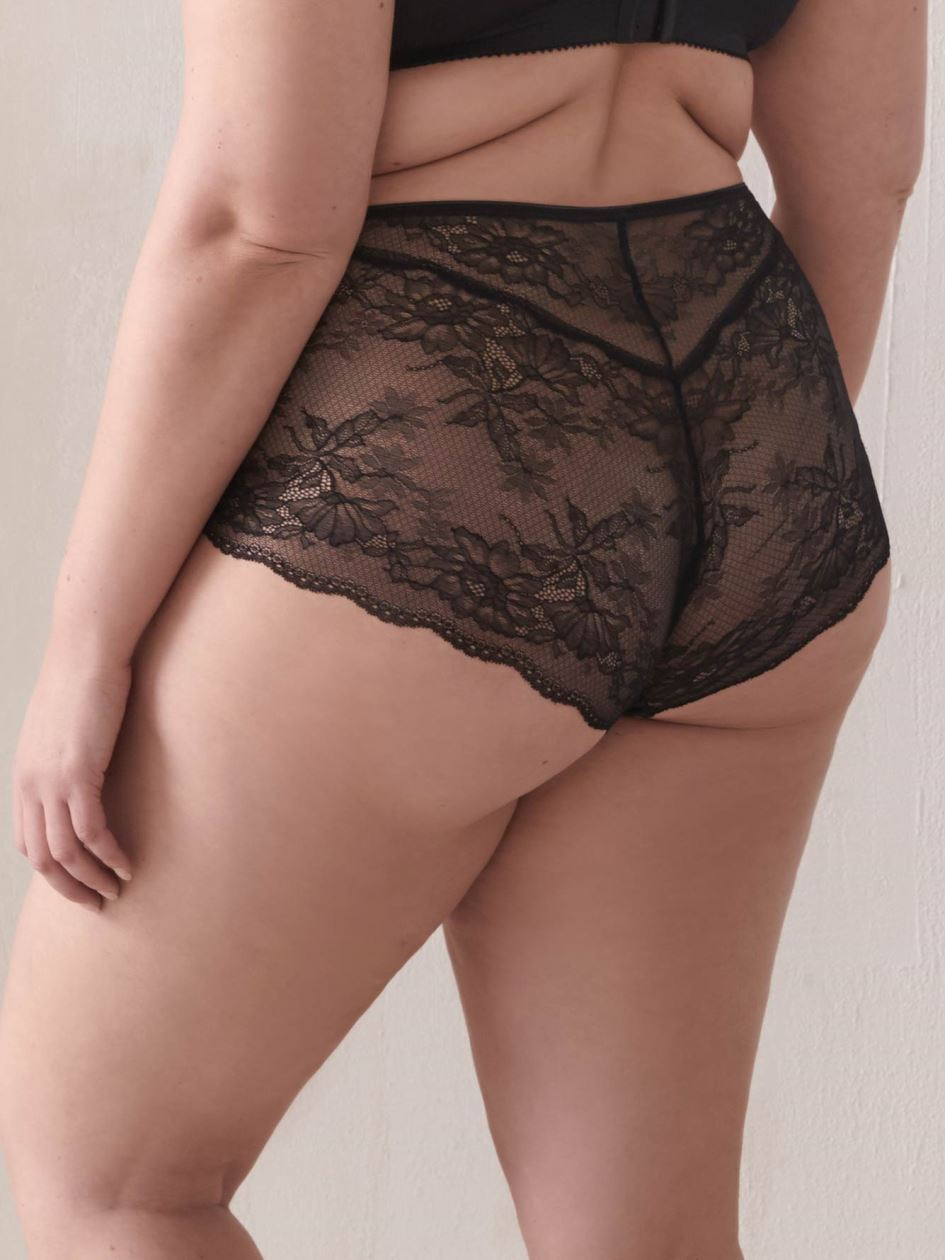 Lace & Microfiber Boyshort Panty - Addition Elle