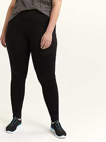 Tall - Plus Size Fit Solution Black Leggings - ActiveZone