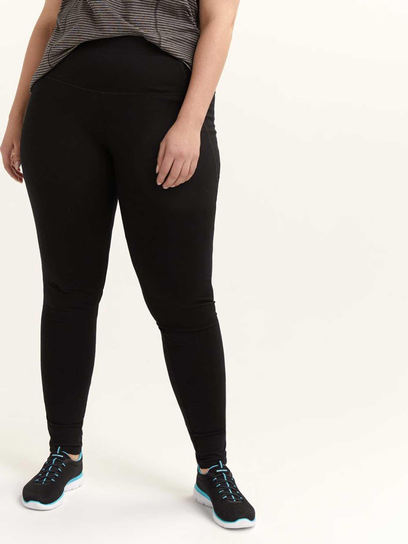 12d2d893c4a Tall - Plus Size Fit Solution Black Leggings - ActiveZone
