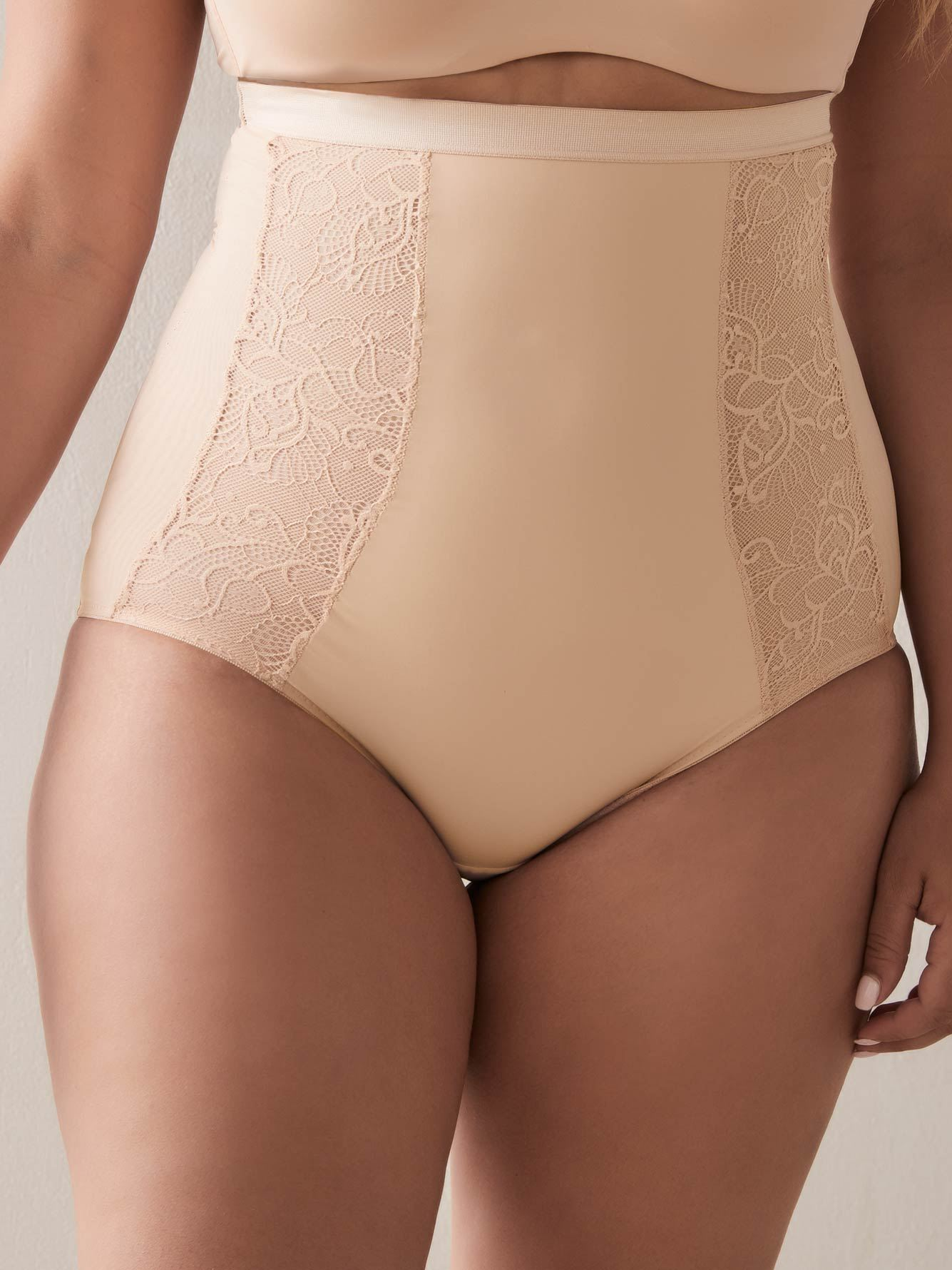 High Waist Cincher Brief with Lace