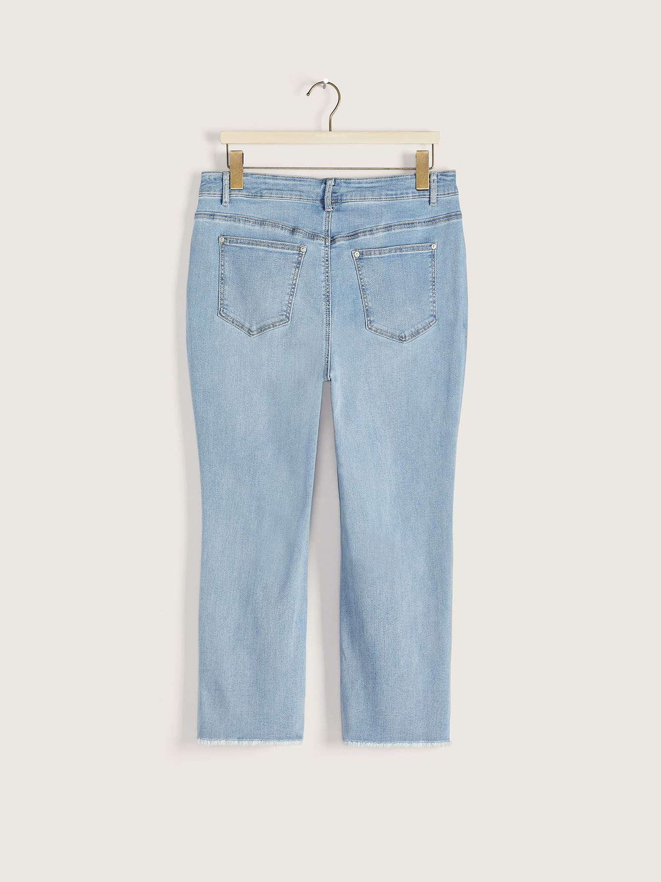 High-Rise Cropped Denim Kick Flare Pant - Addition Elle