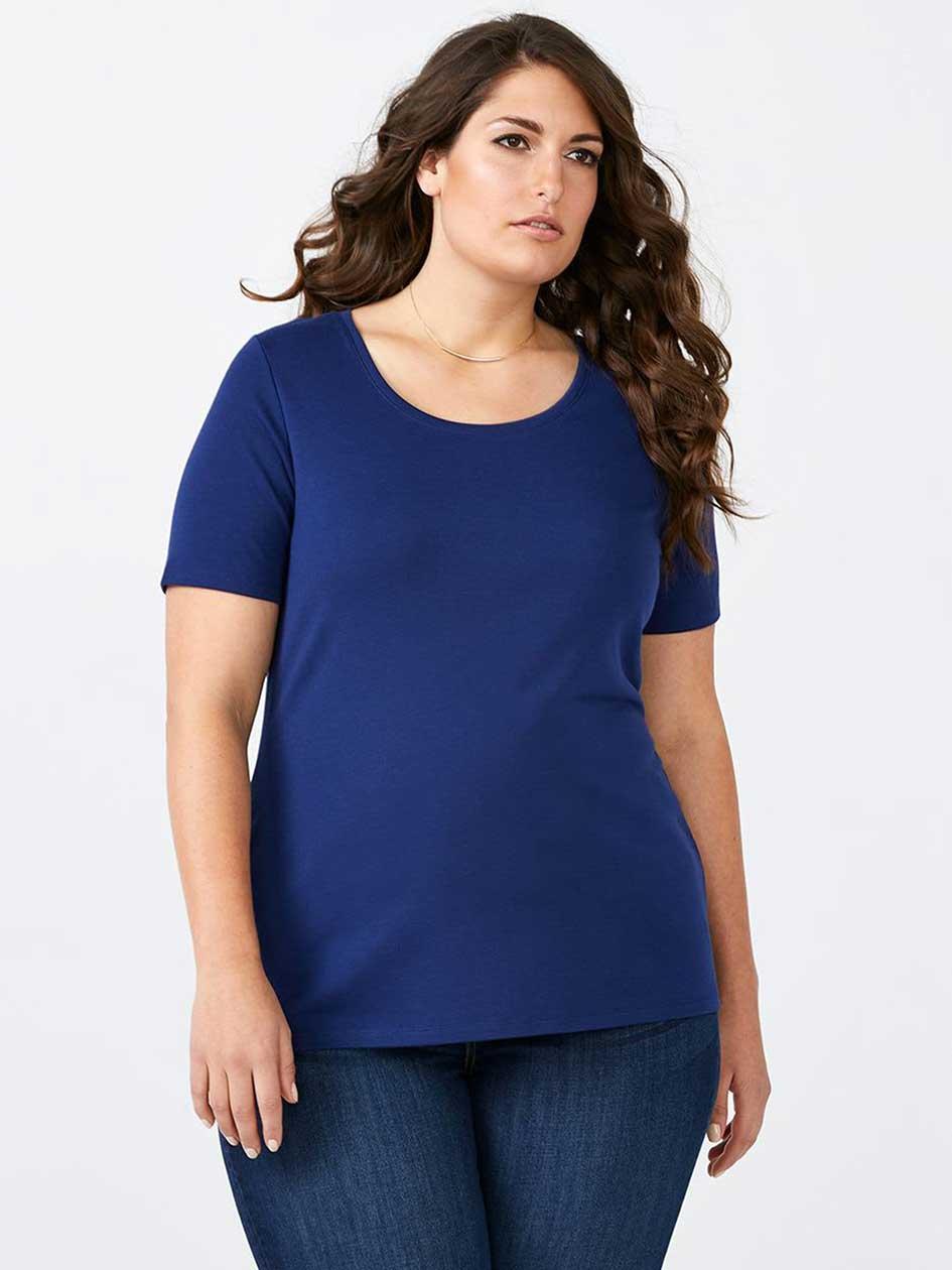 Curve Fit Basic Scoop Neck T-Shirt