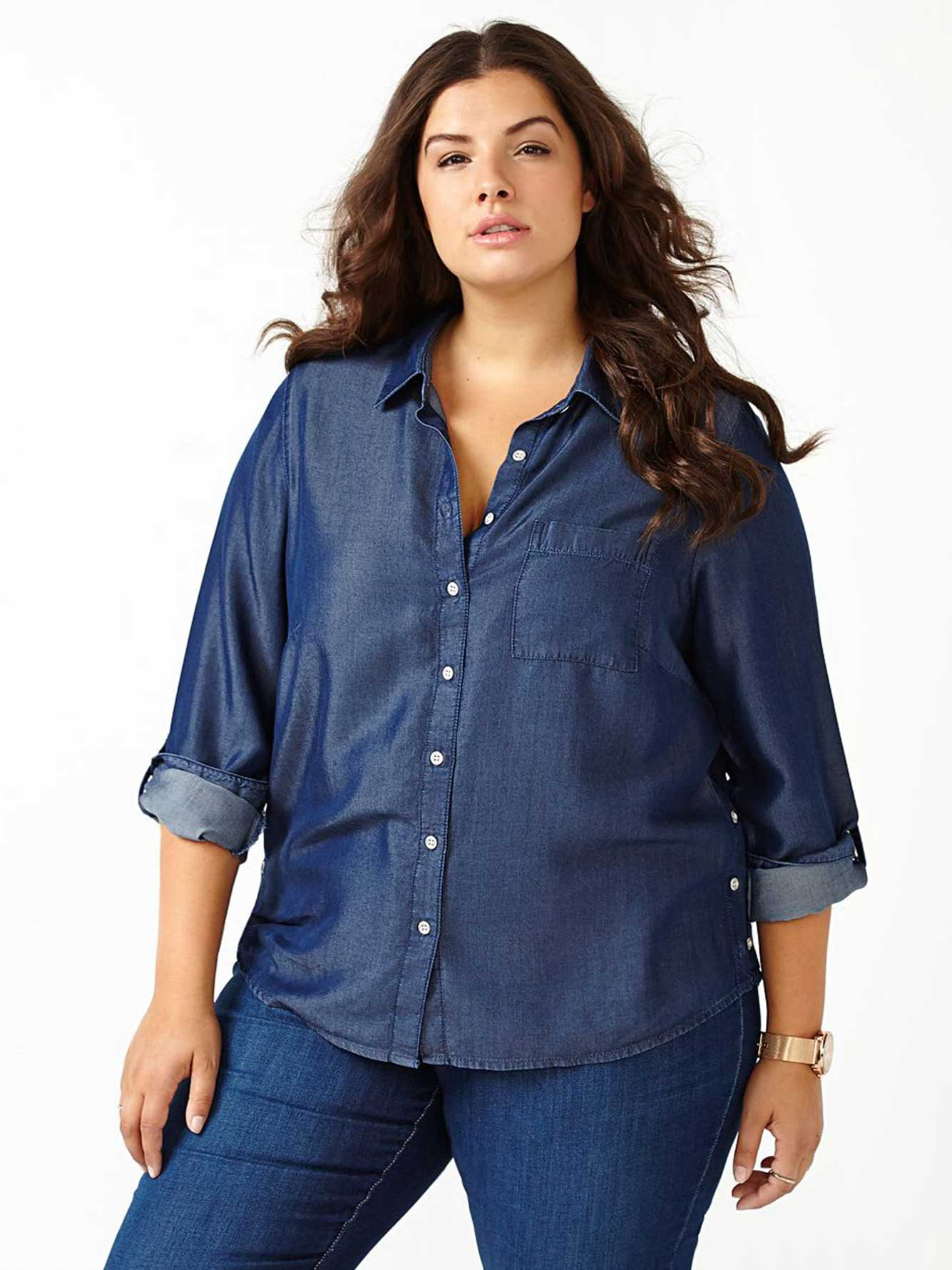 d/c JEANS Long Sleeve Denim Shirt