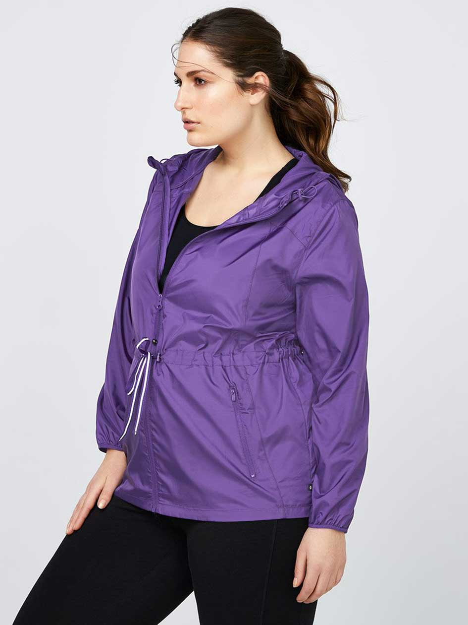Plus-Size Packable Jacket with Hood - Essentials