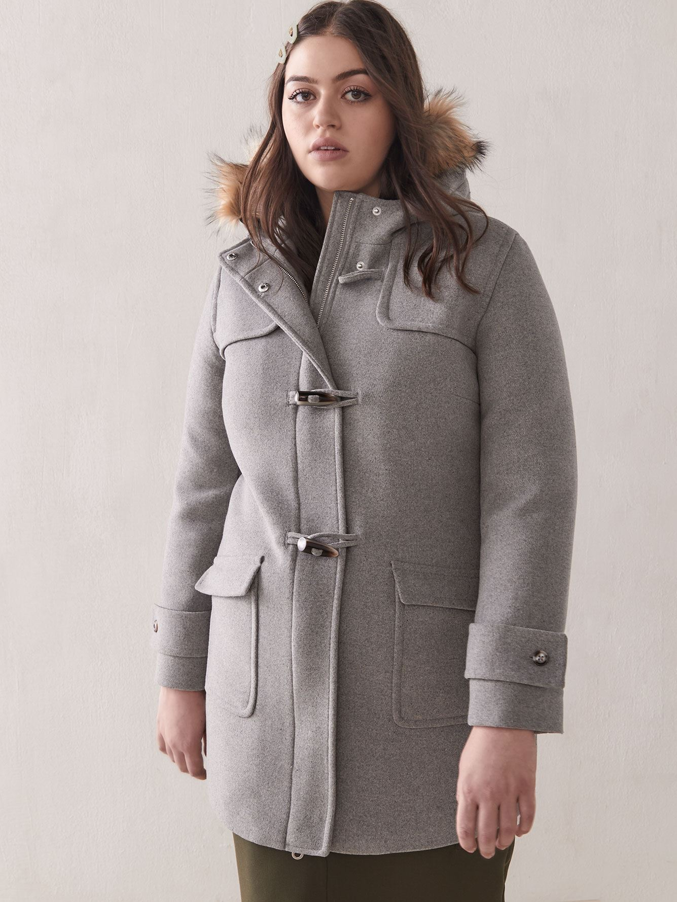 Hooded Short Duffle Coat - Addition Elle