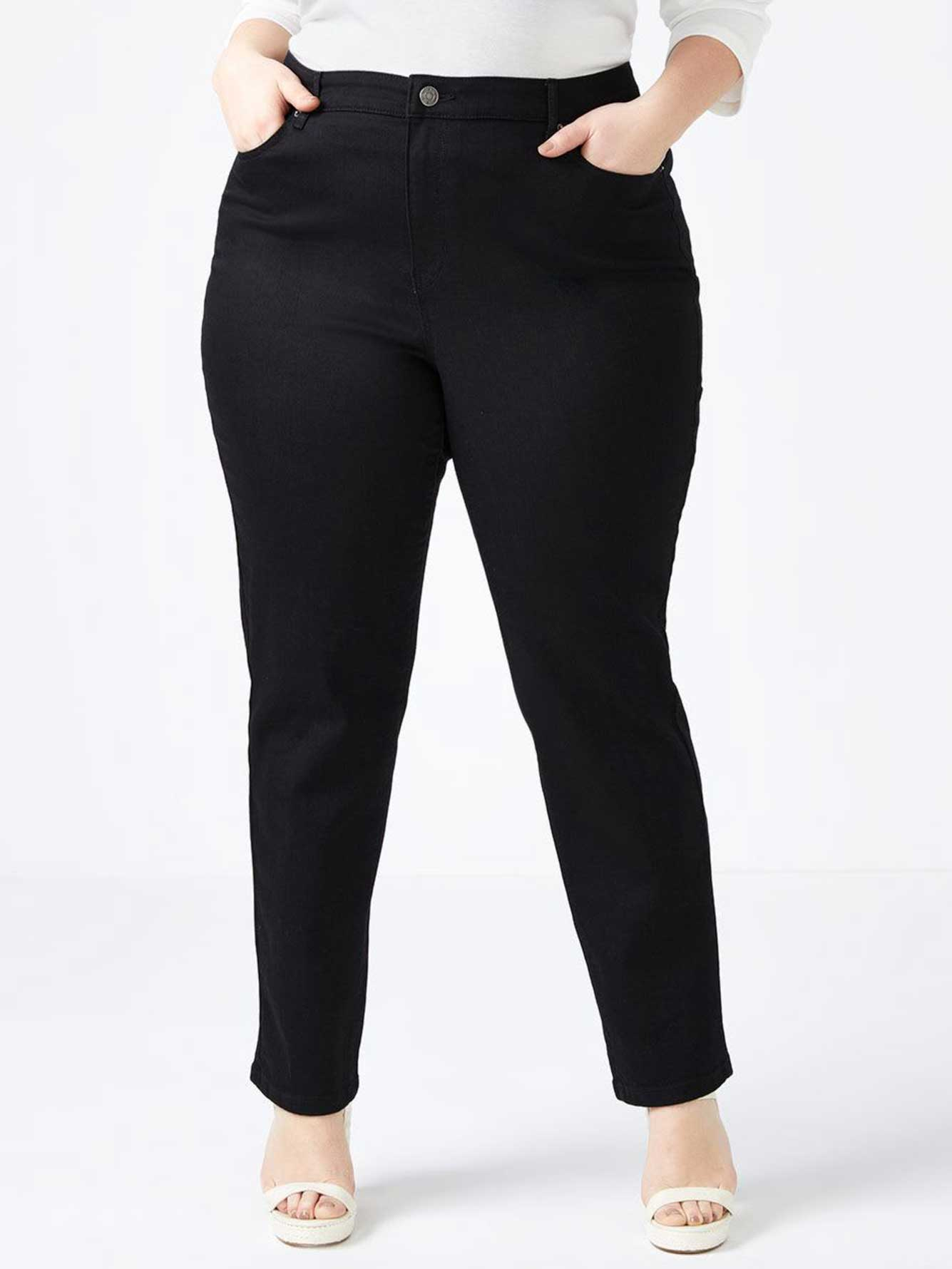 Curvy Fit Straight Leg Black Jean - d/C JEANS