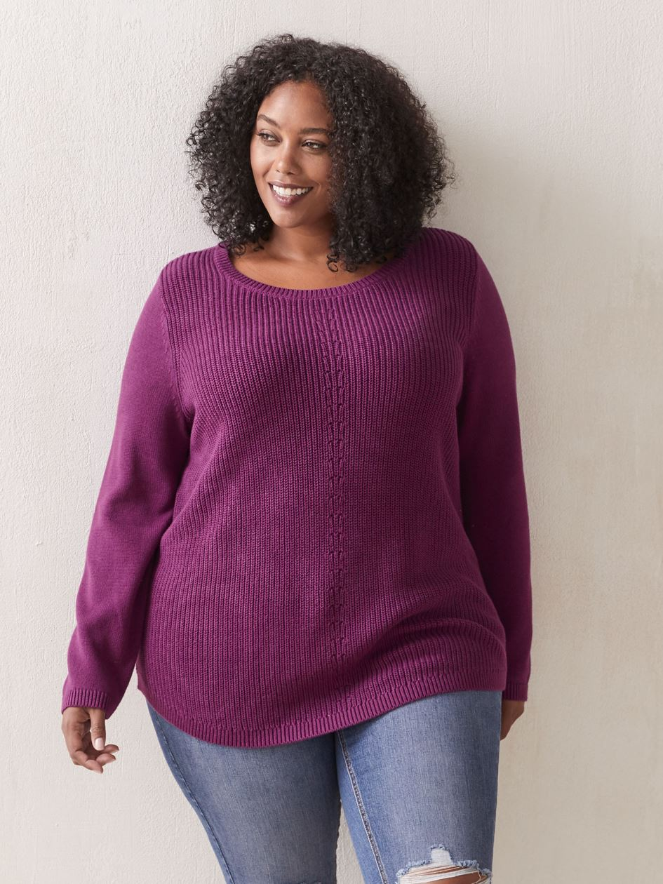 Solid Relaxed Tunic Sweater - In Every Story