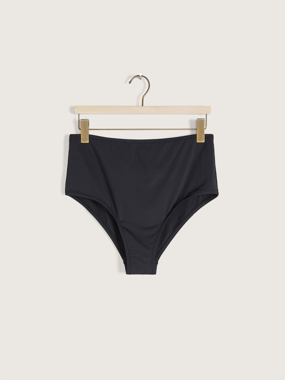 High Waist Solid Bikini Bottom - Everyday Sunday