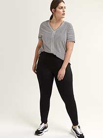 Plus Size Fit Solution Black Leggings - ActiveZone