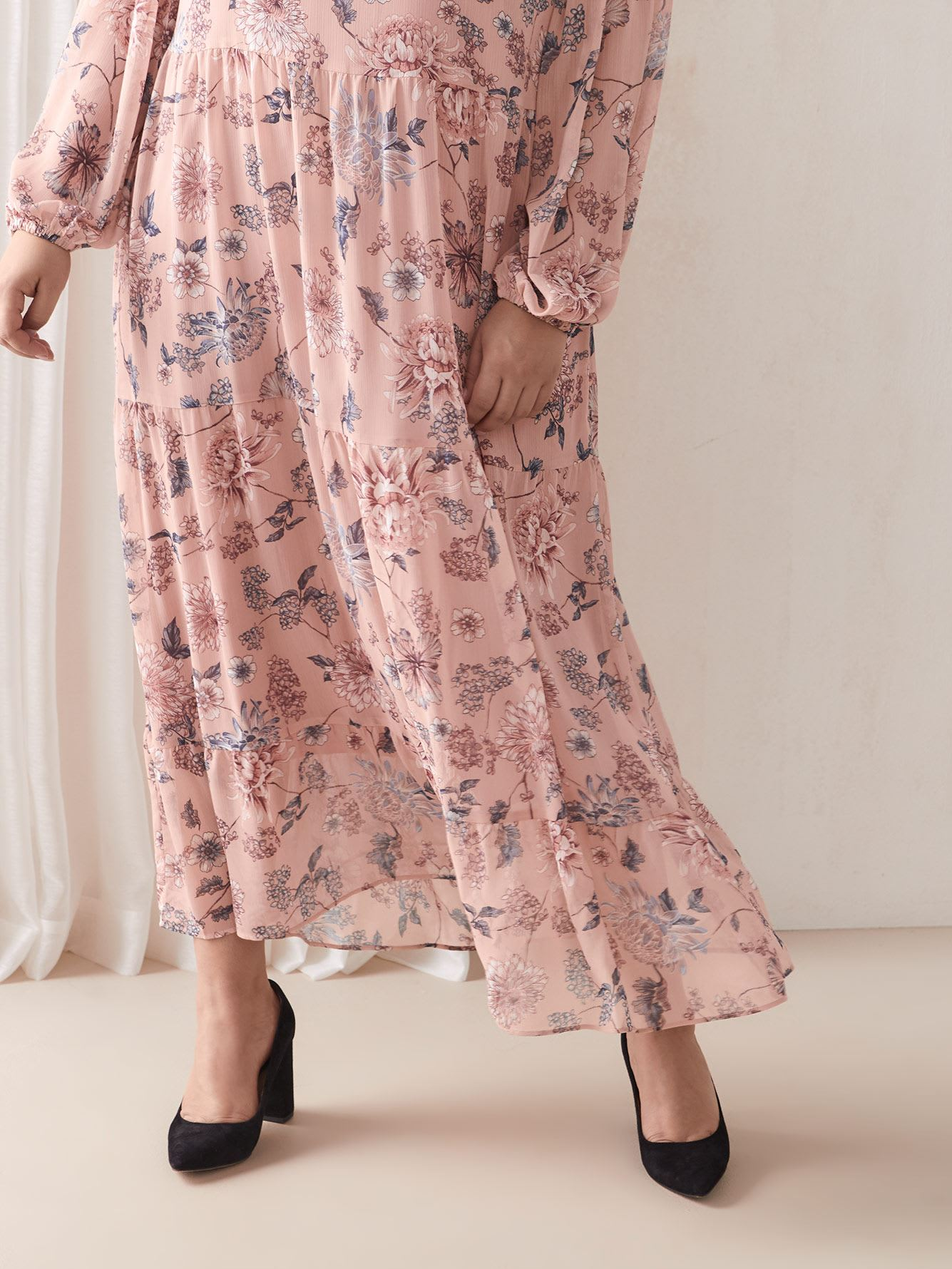 Floral Tiered Maxi Dress - Addition Elle