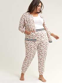 Printed Pyjama Pant with Contrasting Band - ti Voglio