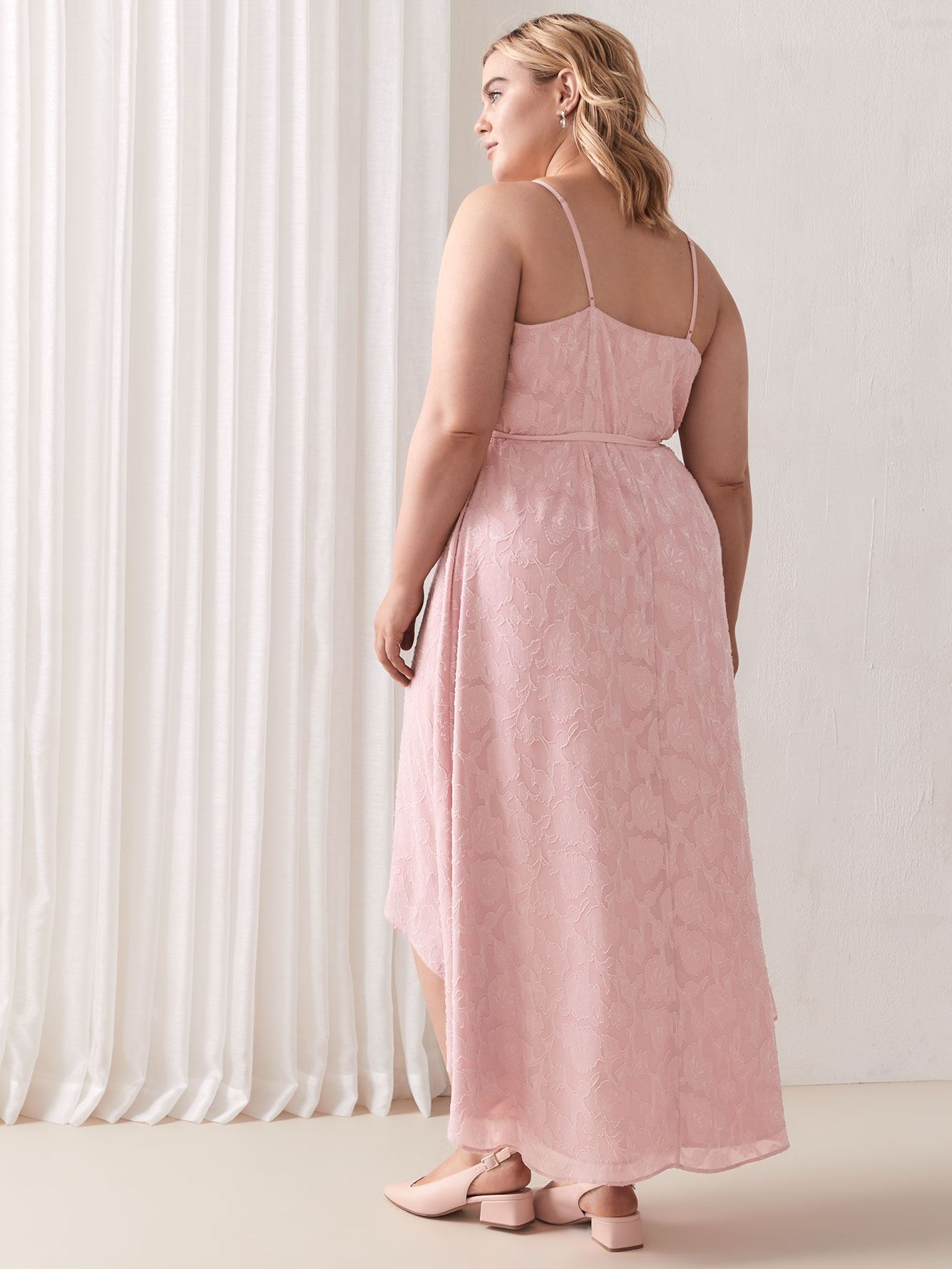 Sleeveless Fit & Flare Jacquard Maxi Dress - Addition Elle
