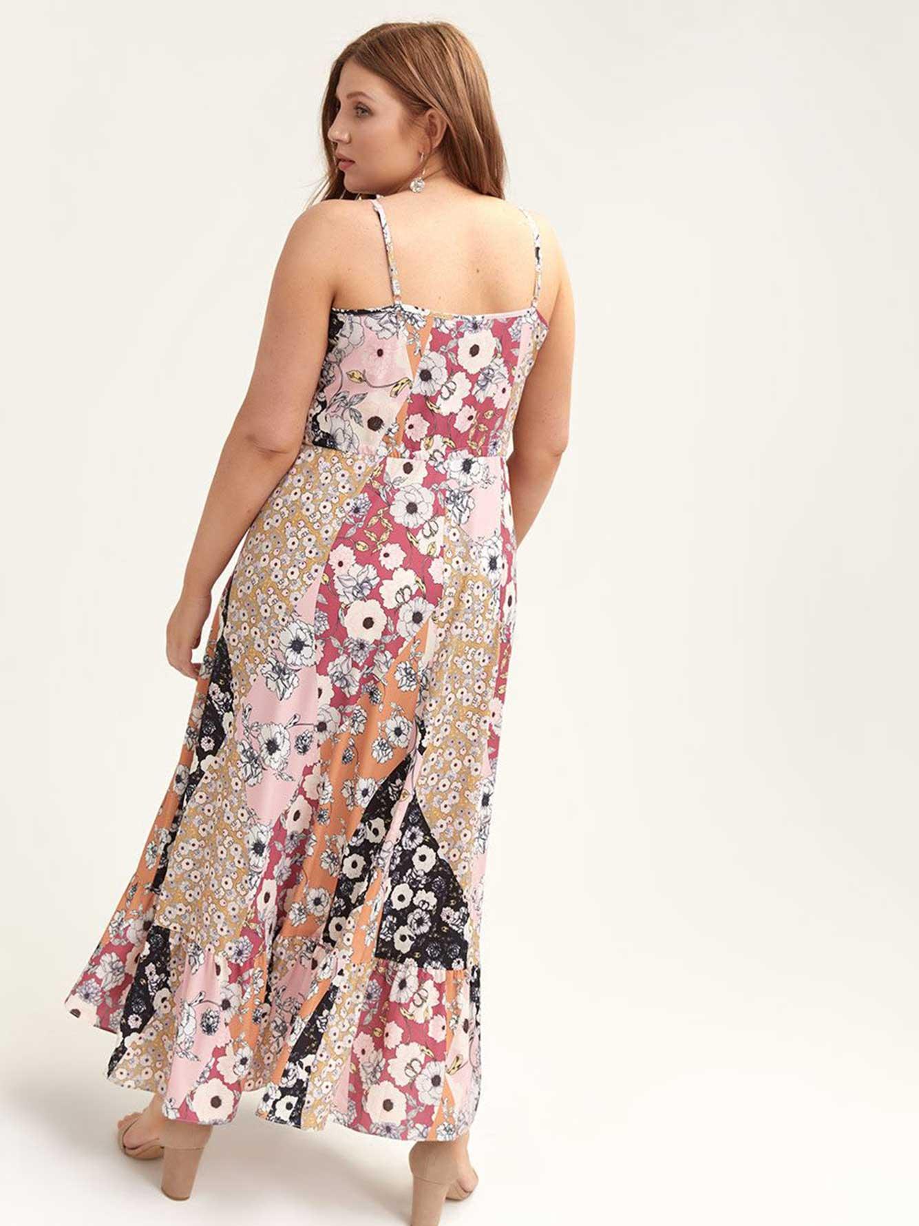Light Pink Plus Size Maxi Dress