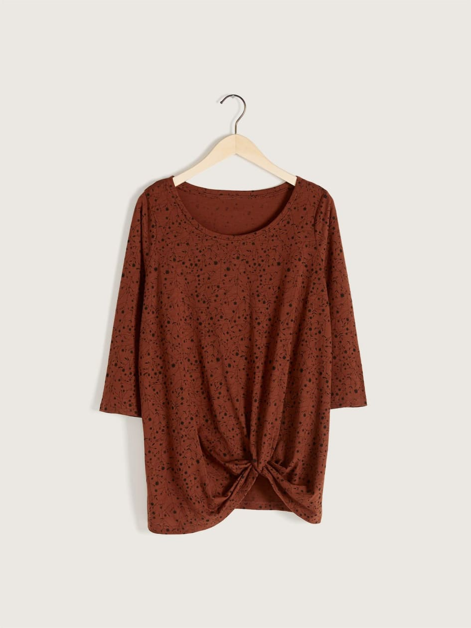3/4 Sleeve Knot T-Shirt - In Every Story