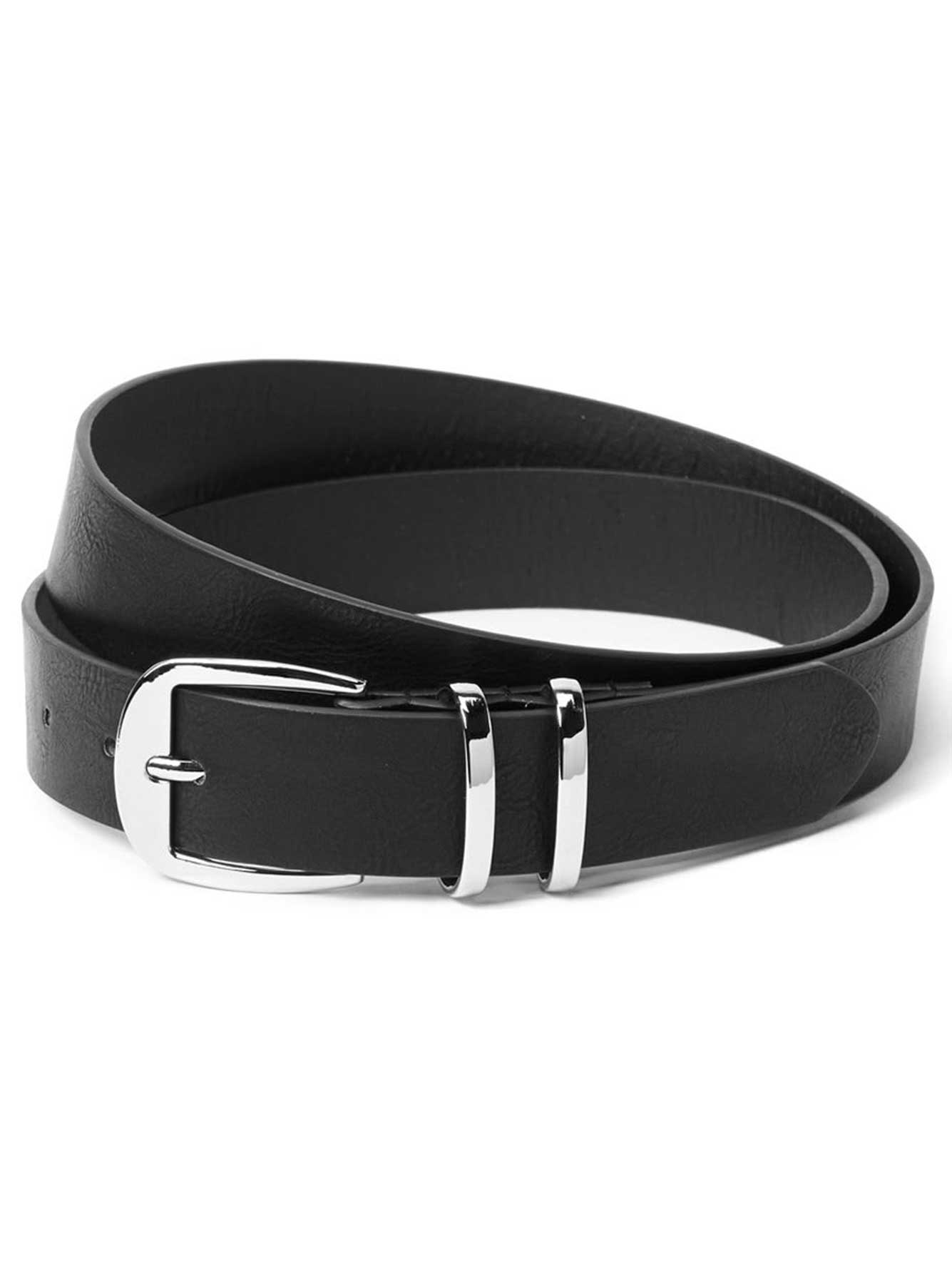 Faux Leather Belt with Two Loops