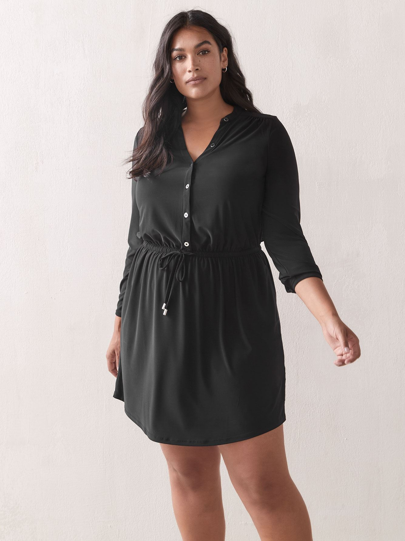 Long-Sleeve Shirt Dress - Addition Elle
