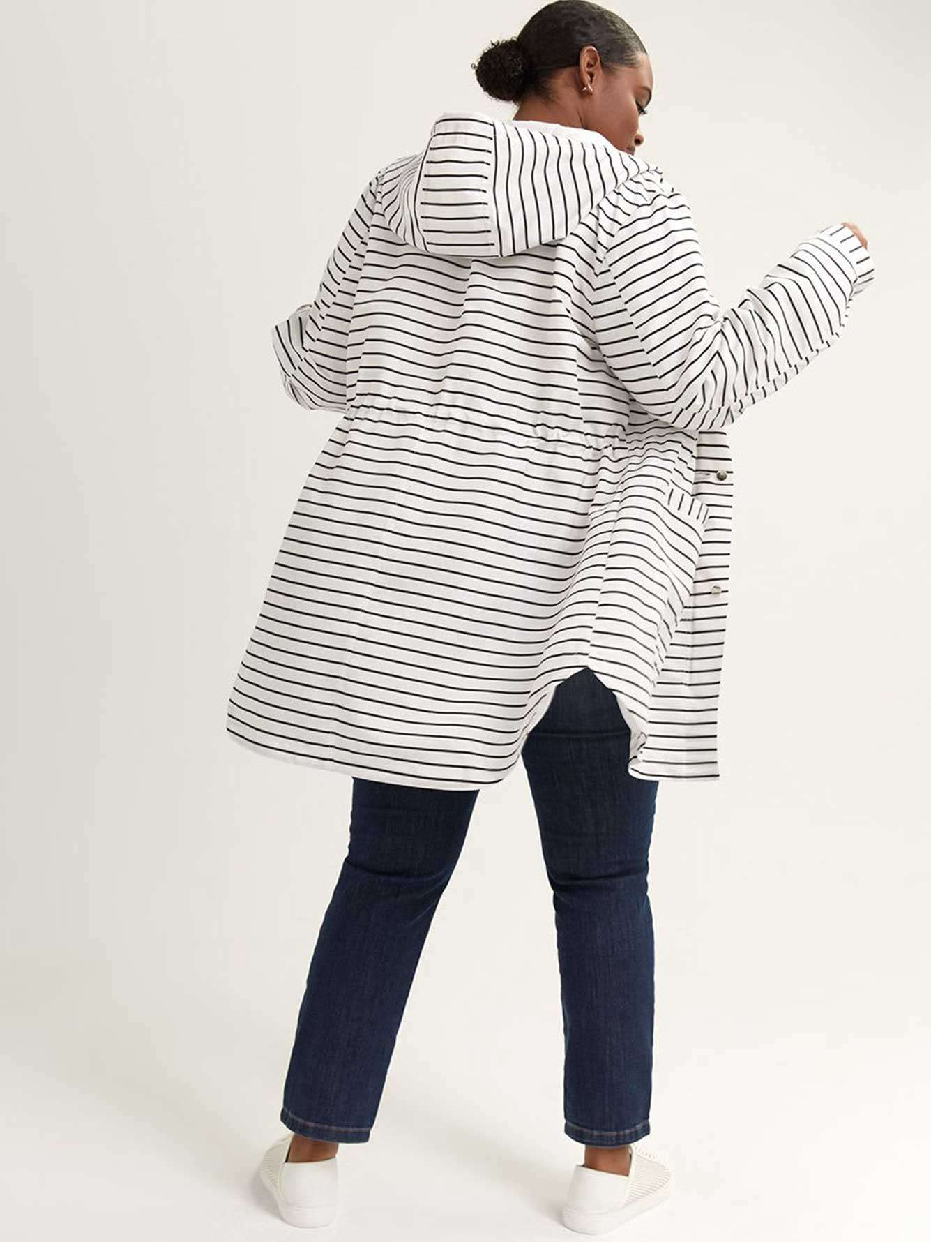 Striped Parka Rain Jacket - In Every Story