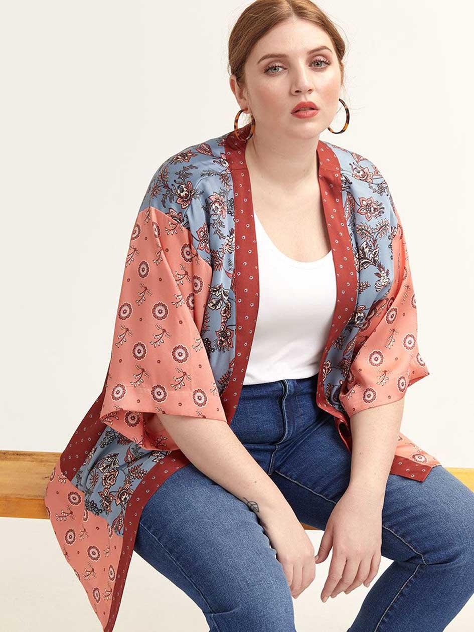 2cf7c80beda Floral Kimono Blouse
