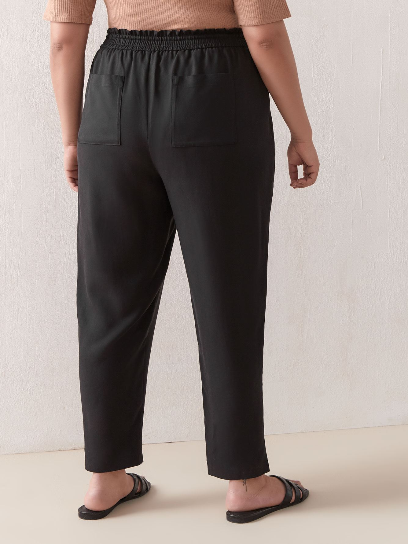 Solid Ankle Length Jogger Pant - Addition Elle