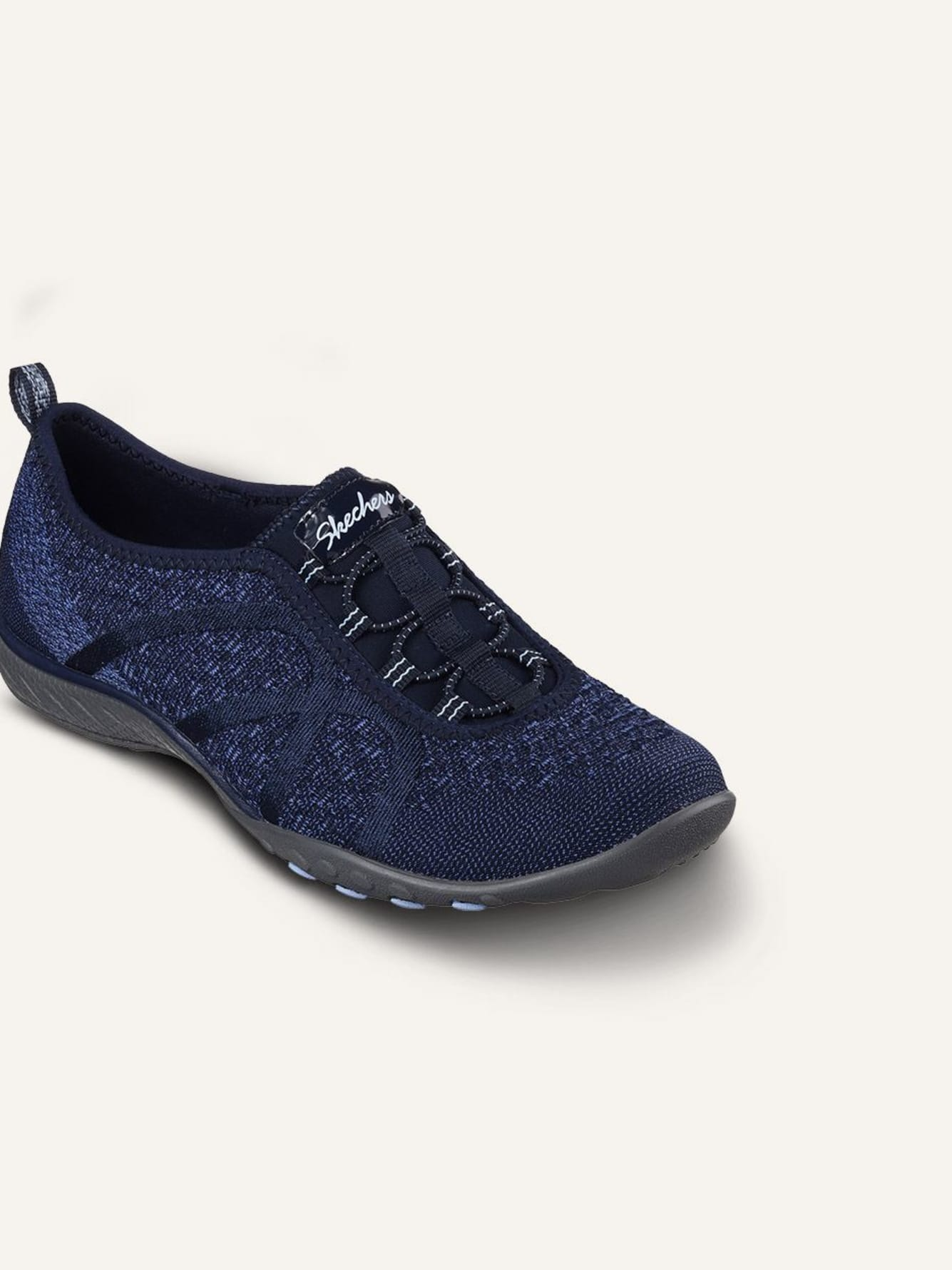 Skechers Relaxed Fit, Breathe Easy Fortune Knit - Wide Width Pull-On Casual Sneakers