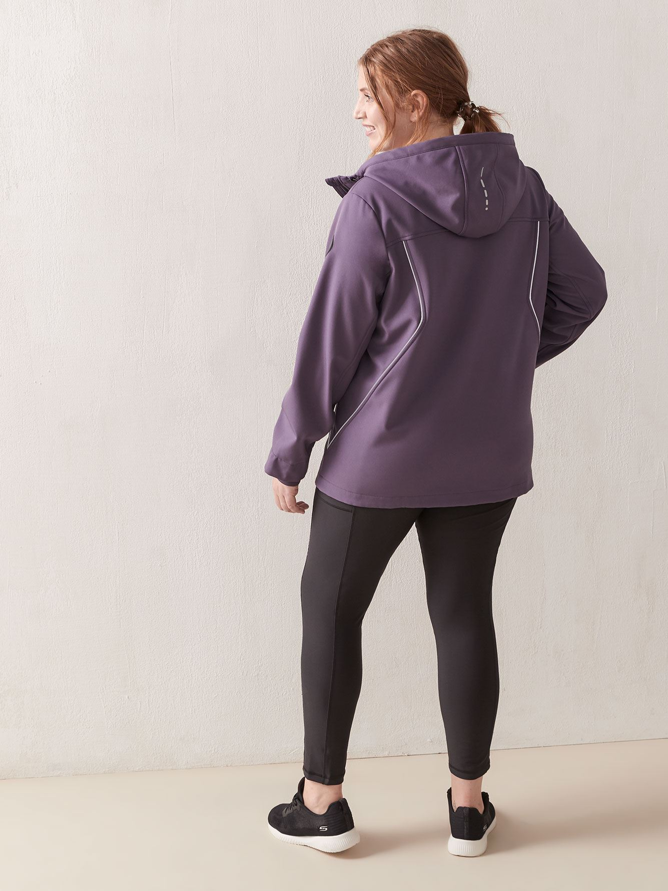 Mid-Length Zip-Front Hooded Softshell - ActiveZone