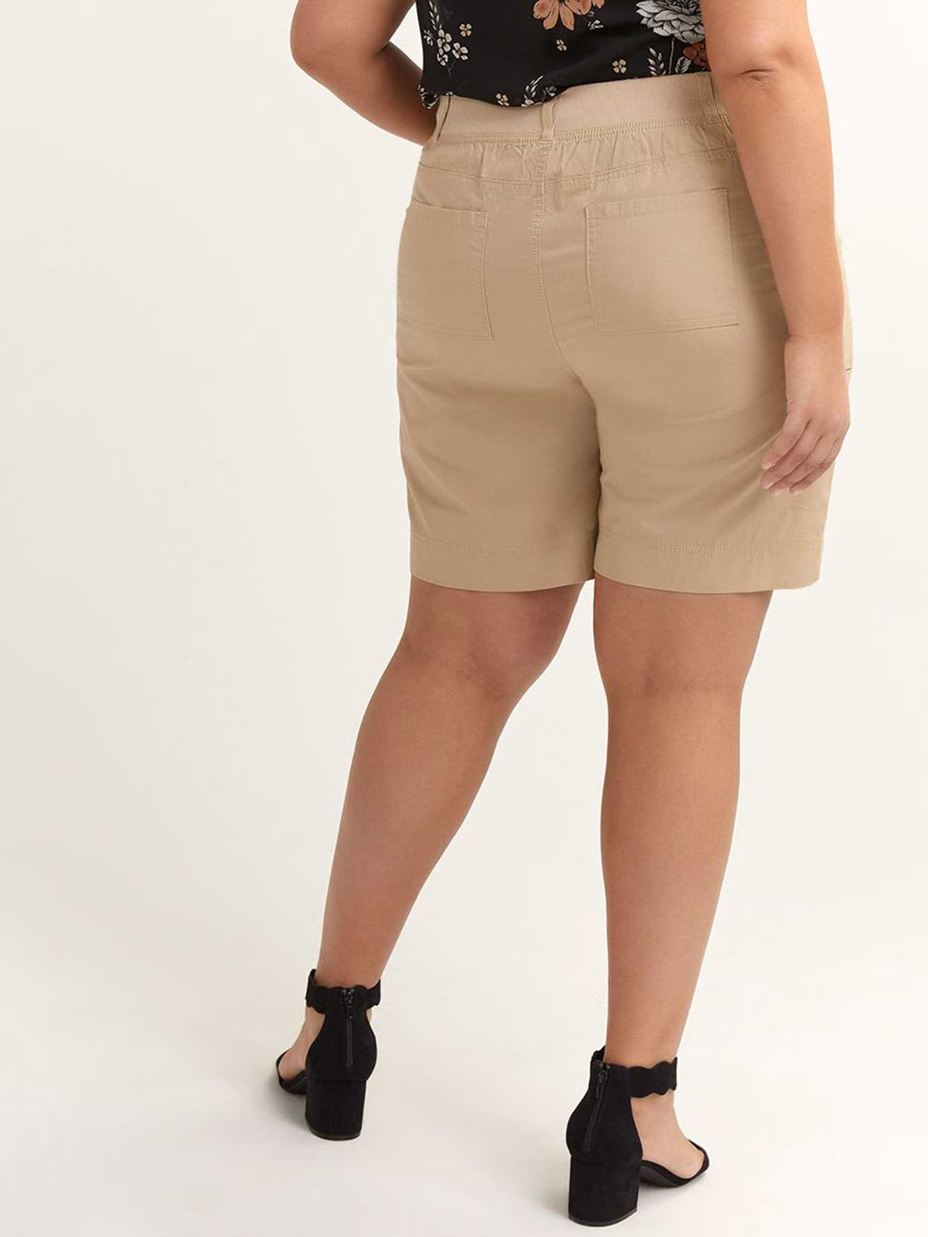 Bermuda Short with Ribbed Waistband - d/C JEANS