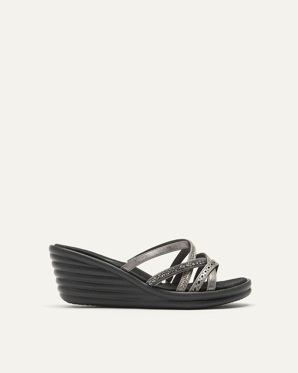 Wedge Sandals with Crossed Straps - Skechers