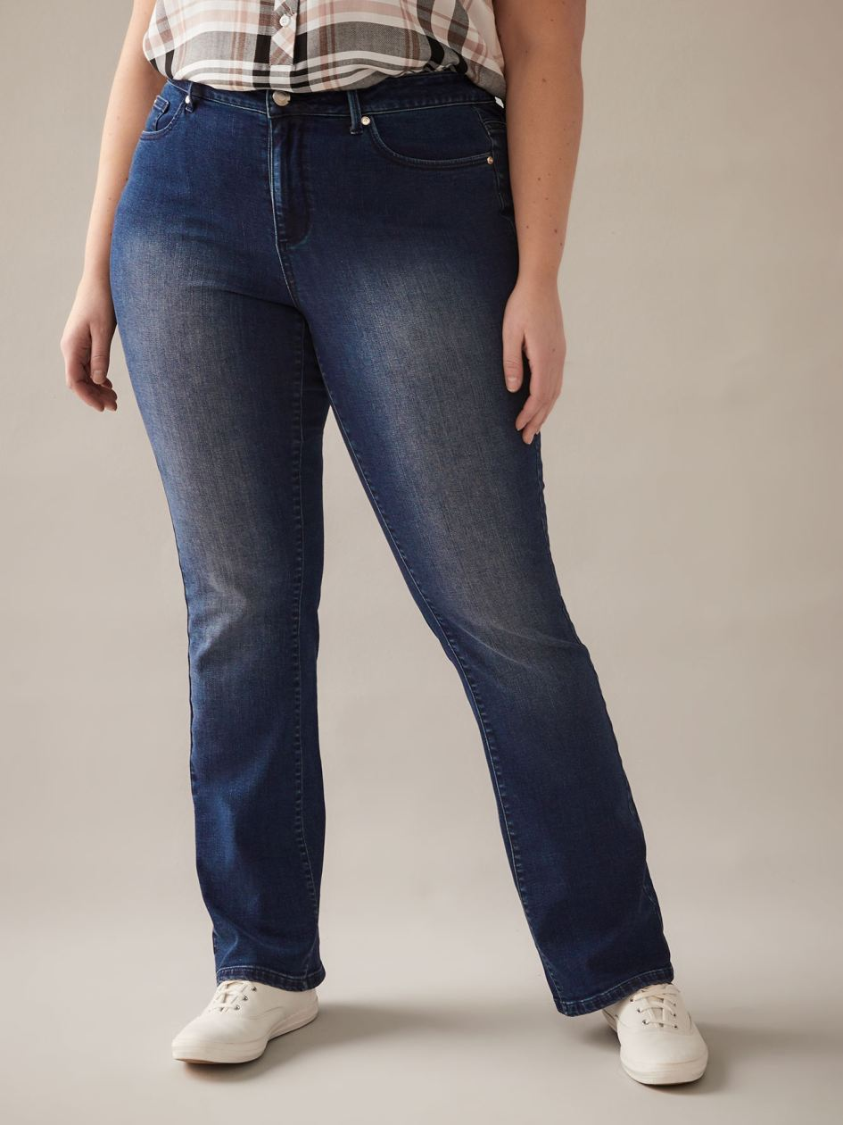 Women/'s plus size contrasting Blue Black Stretchy skinny jeans Approx UK 10-20