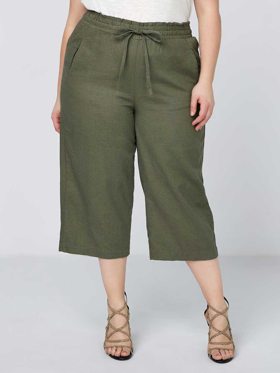 Linen Capri with Elastic Waistband - In Every Story