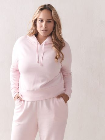 Long-Sleeve Fleece Hoodie - Addition Elle