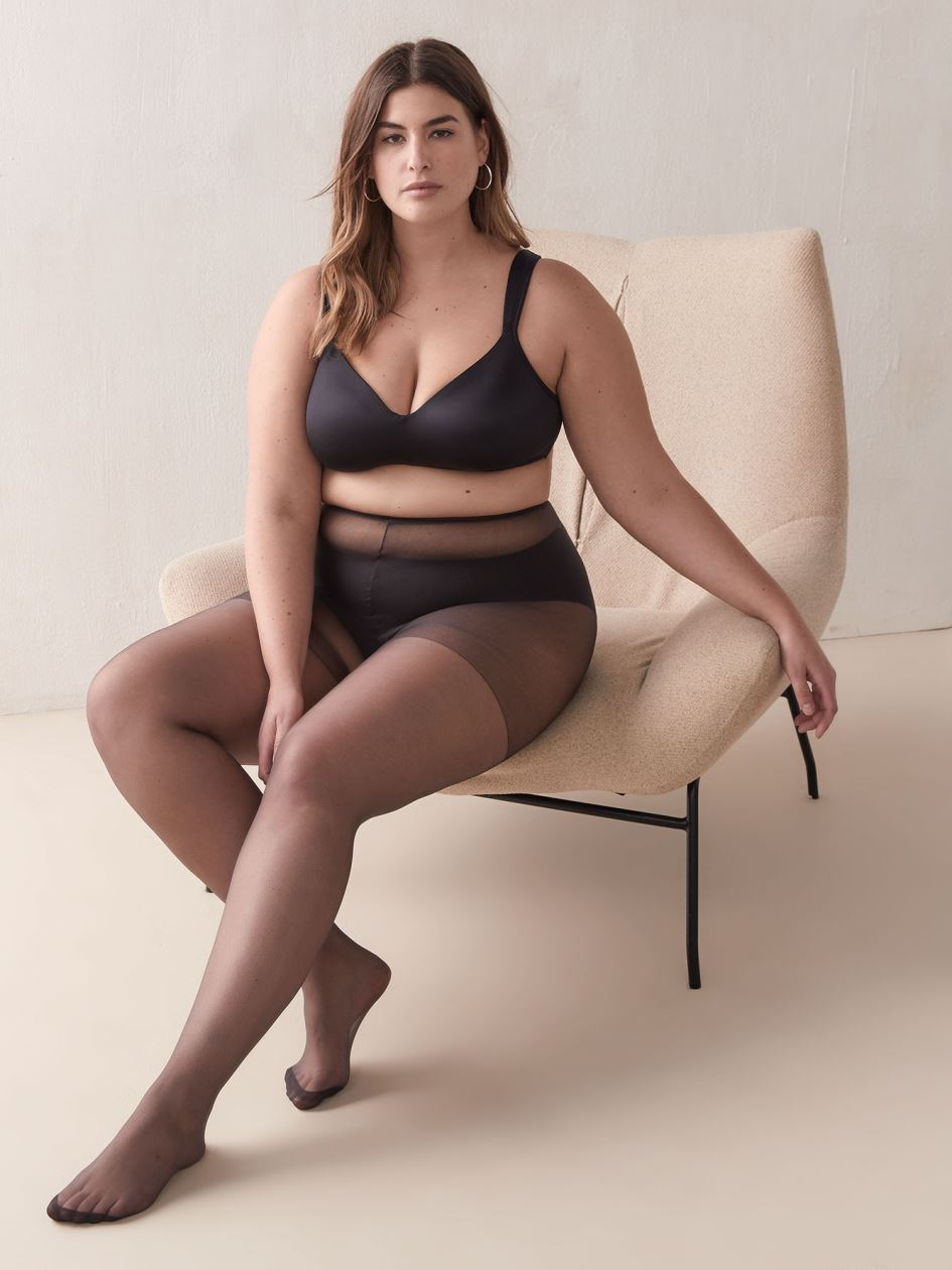 2 Pairs of Everyday Sheer Nylons - Addition Elle