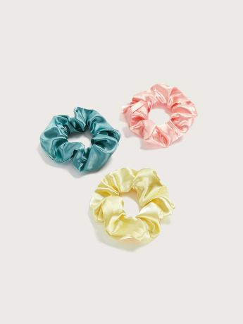 Satin Hair Scrunchies, 3-Pack - Addition Elle
